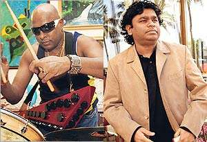 Sivamani (L) and A R Rahman