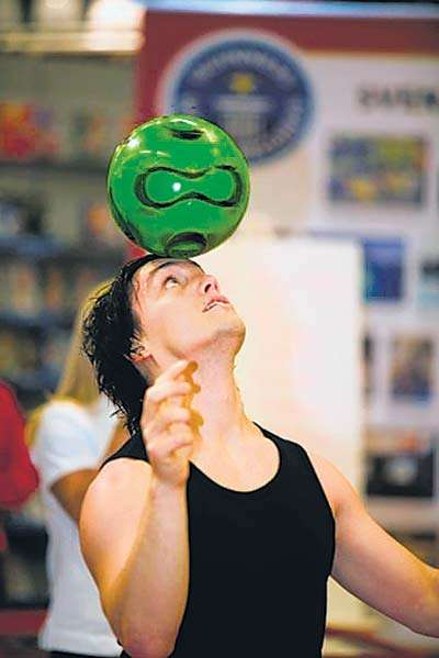 Guinness world record holder and football juggler Victor Rubilar answers questions on the sport and why he always wanted to perform in India.