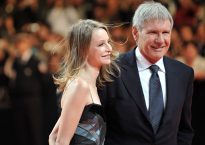 Calista Flockhart with Harrison Ford