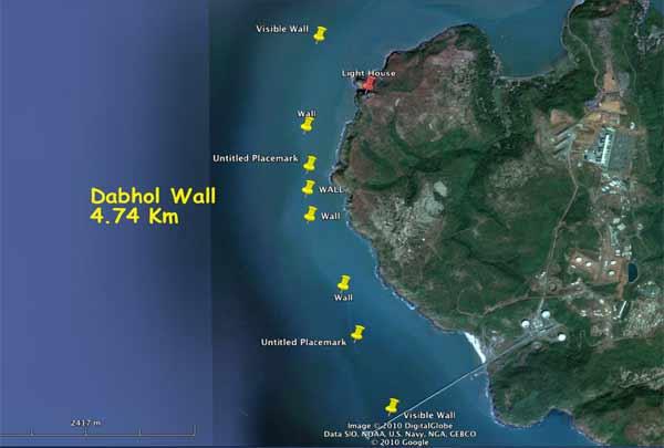 Dabhol Wall, 4.74 Km