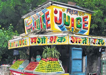 The Fruit Juice Style font was invented by Charan Chavan, 65 in Delhi. His son, Subhash, remembers how the font soon became a rage then. The family, including the women and children as young as seven,  stayed up nights to complete painting jobs that came their way. Even today, the font can be found on most fruit juice stalls in Chandigarh, Haryana and Rajasthan.