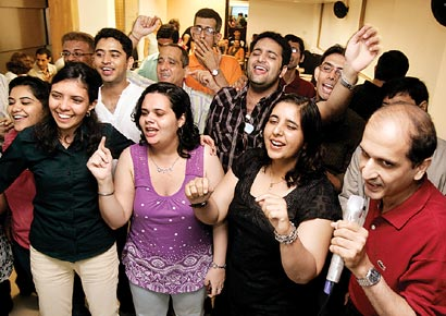 The karaoke night organised by the Bombay Parsi Punchayet Matrimony Club