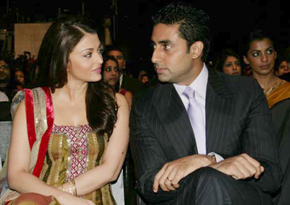 Aishwarya with husband Abhishek Bachchan in a file photo