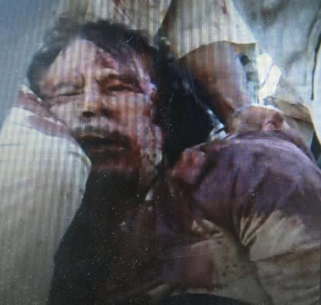 Gaddafi's death