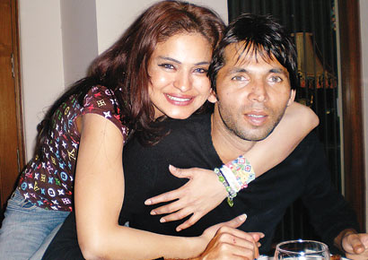 Veena Malik and Mohammad Asif in happier times
