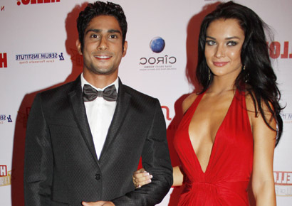 Prateik with <i>Ek tha Deewana</i> co-star Amy Jackson