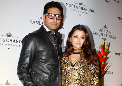 Aishwarya Rai-Bachchan with husband Abhishek