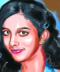 A sketch of slain teenager Aarushi Talwar
