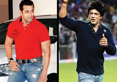 Salman Khan (left), Shah Rukh Khan