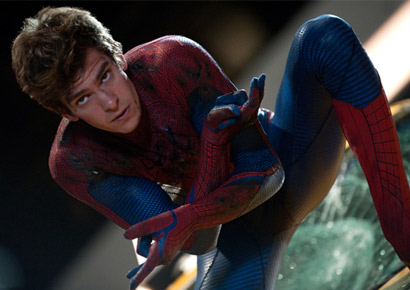 Andrew Garfield in and as <i>The Amazing Spider-Man</i>