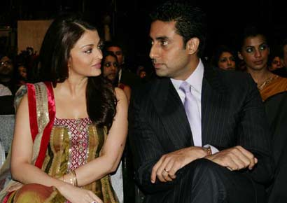 Abhishek Bachchan with wife Aishwarya
