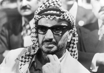 Yasser Arafat (born Mohammed Abed Ar'ouf Arafat) leader of the PLO (Palestine Liberation Organisation), at an Arab Summit conference in Rabat, Morocco, October 28, 1974.