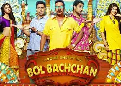 A poster of <i>Bol Bachchan</i>
