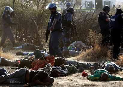 Mine Bloodbath Shocks Post Apartheid South Africa Reuters | Personal