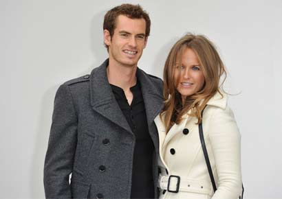 Andy Murray with Kim Sears