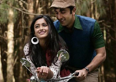 Ranbir Kapoor and Ileana D'Cruz in <i>Barfi</i>