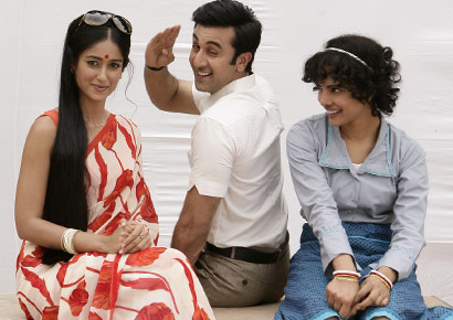 Ileana, Ranbir and Priyanka in <i>Barfi!</i>