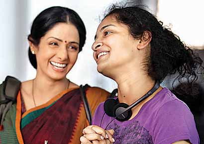 Sridevi with the director Gauri Shinde