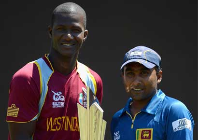 Mahela Jayawardene with Darren Sammy