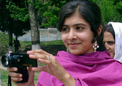 A file photo of Pakistani child activist Malala Yousufzai