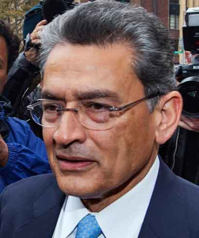 Rajat Gupta arrives at Manhattan Federal Court in New York