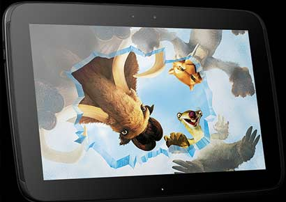 Google Nexus 10 <br><i>Photo courtesy: www.google.com</i>