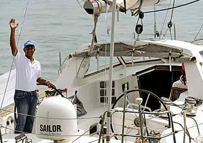 Lt commander Abhilash Tomy, who set off from Gateway of India on Thursday, wont take help from any of the ports that fall along the way