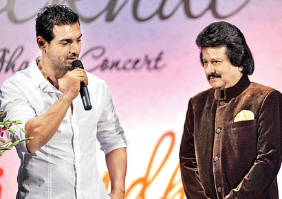 John Abraham and Pankaj Udhas
