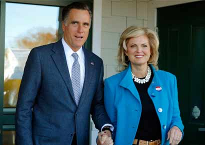 Mitt Romney with wife, Ann