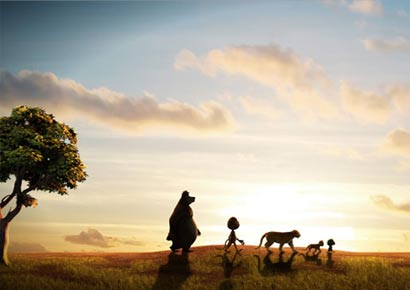 A still from animated film <i>Delhi Safari</i>