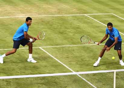 Rohan Bopanna and Mahesh Bhupathi