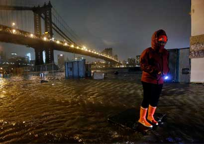 Hurricane Sandy ravages the US