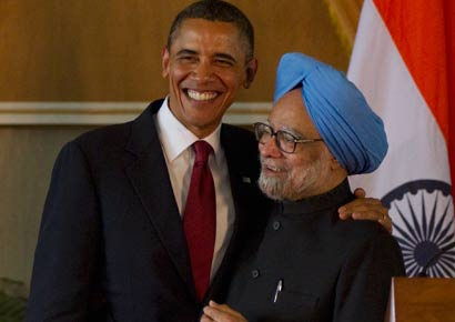 A file photo of Barack Obama and Manmohan Singh