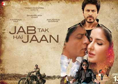 A poster of <i>Jab Tak Hai Jaan</i><br/><i>Photo courtesy: www.yashrajfilms.com</i>