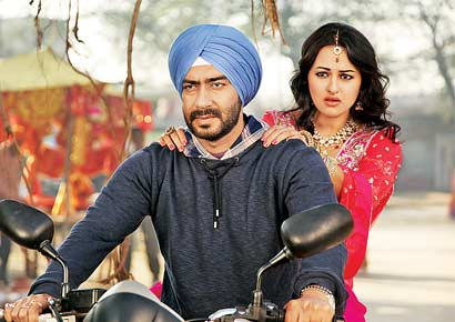 A still from the film <i>Son of Sardaar</i>