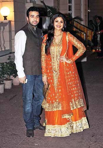 Raj Kundra with Shilpa Shetty