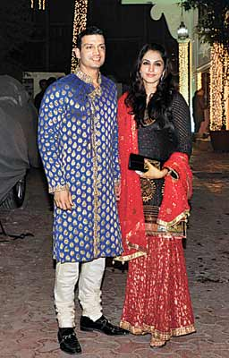 Timmy Narang with Isha Koppikar