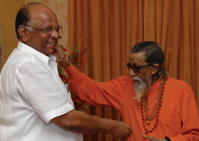 Bal Thackeray and Sharad Pawar