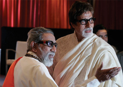 Bal Thackeray and Amitabh Bachchan