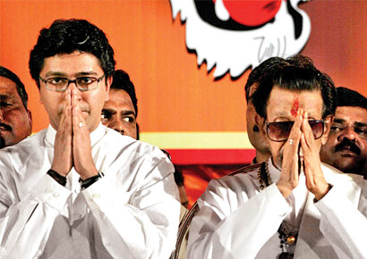 Raj Thackeray and Bal Thackeray