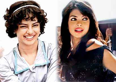 Priyanka Chopra; (left) PC in <i>Barfi!</i>