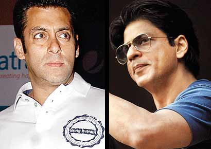 (L) Salman Khan and Shah Rukh Khan