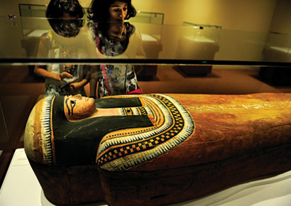 First 3D virtual unwrap of Esperennub, an Egyptian mummy, at the Prince of Wales Museum at Kala Ghoda