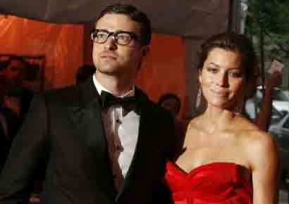 Jessica Biel with Justin Timberlake