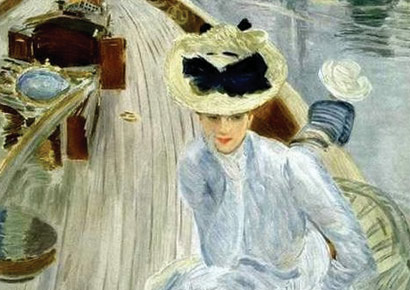 A detail from R�verie by Paul C�sar Helleu