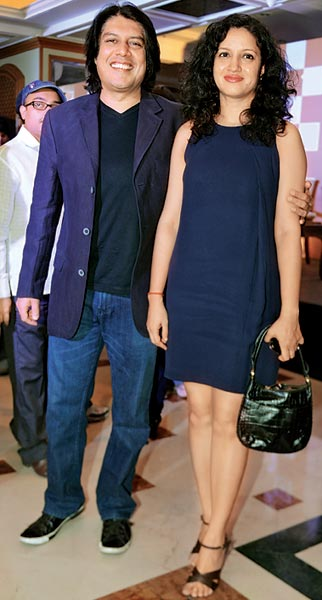Piyush Jha with wife