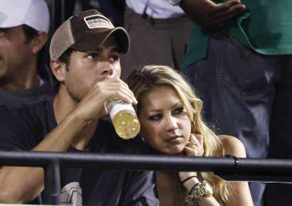 Anna Kournikova with Enrique Iglesias