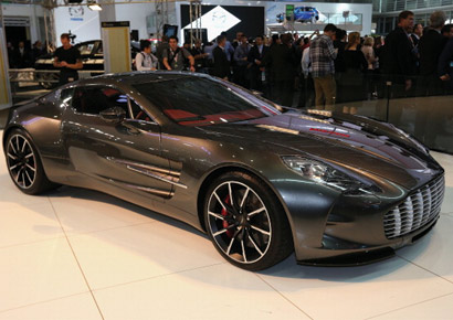 The Aston Martin One77 is displayed during the Australian International Motor Show media preview at the Sydney Convention & Exhibition Centre on October 18, 2012 in Sydney, Australia.