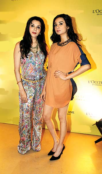 Lillete and daughter Ira Dubey hosted guests at a spa