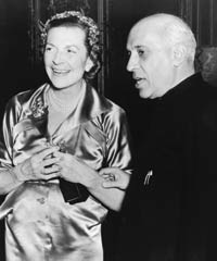 Edwina Mountbatten with Pandit Nehru